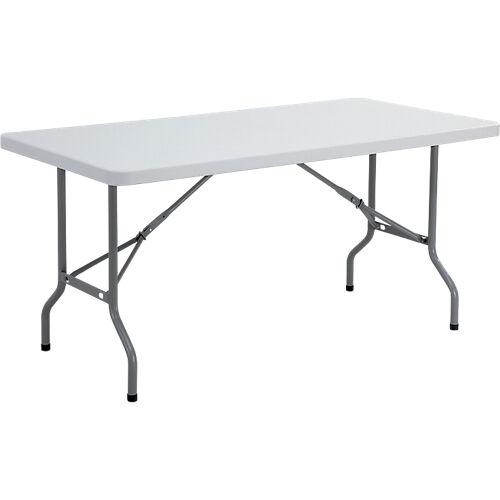 Sans marque Table pliante 1520 x 760 x 740 mm Gris
