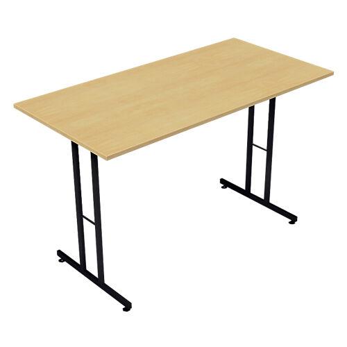 Sans marque Table pliante rectangulaire 1200 x 600 x 740 mm Imitation Hêtre