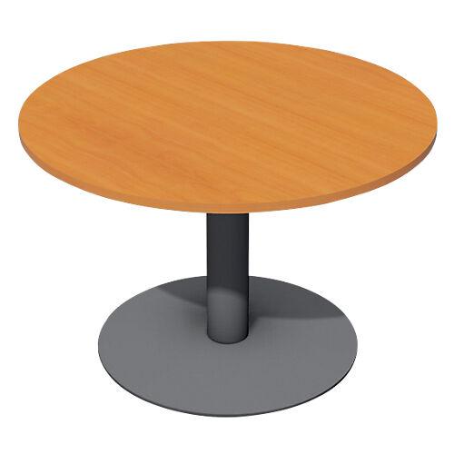 Sans marque Table de réunion Optimal 720 mm Imitation poirier  anthracite