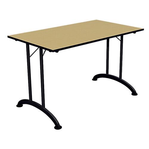 Sans marque Table de réunion pliante Mobilis EVO 1200 x 700 x 740 mm Aluminium  imitation pommier