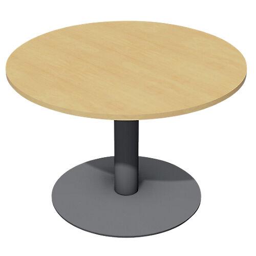 Sans marque Table de réunion Optimal 1100 x 1100 x 720 mm Imitation hêtre  anthracite