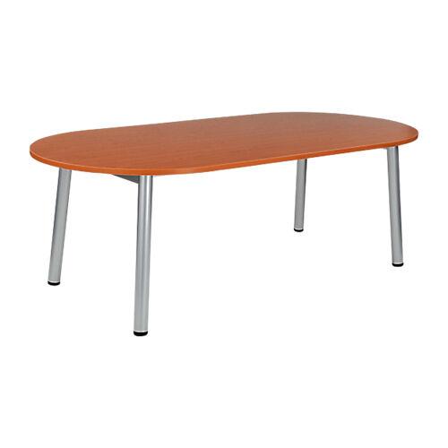 Sans marque Table de réunion oblongue Congrès 2100 x 1020 x 730 mm Imitation Merisier