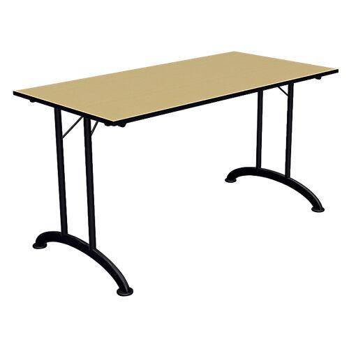 Sans marque Table de réunion rectangulaires pliante Mobilis EVO 1400 x 700 x 740 mm Imitation Pommier