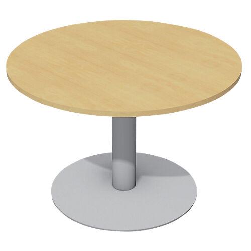 Sans marque Table de réunion Cancun 720 mm Imitation hêtre  gris aluminium