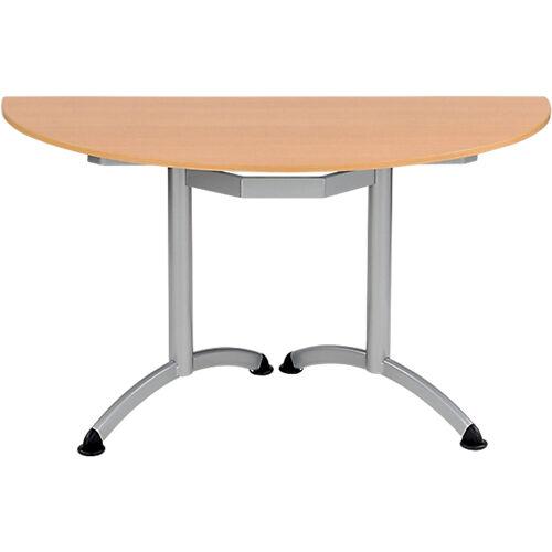 Sans marque Table de réunion Modulo 1400 x 700 x 750 mm Argenté  Imitation Hêtre