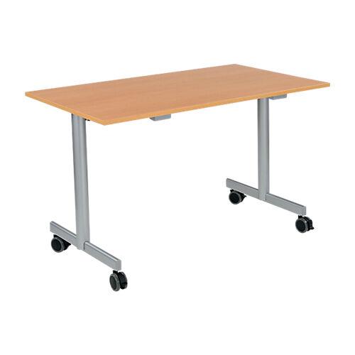 Sans marque Table de réunion abattante 1200 x 700 x 740 mm Imitation Hêtre