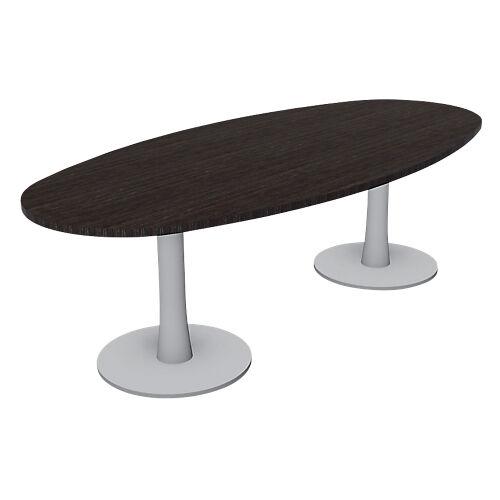 Sans marque Table ovale London 1100 x 750 x 2400 mm Imitation wengé