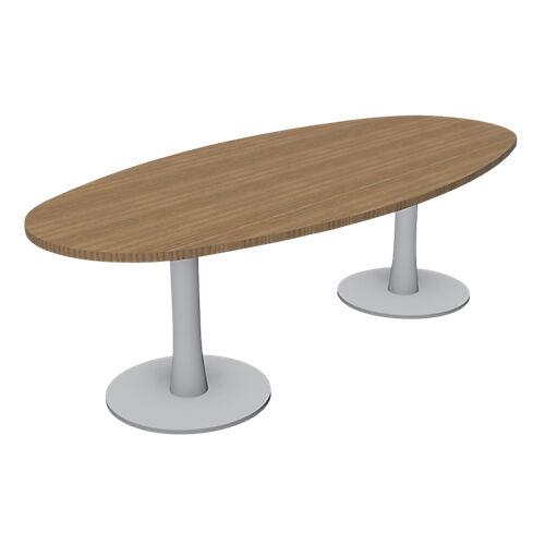 Sans marque Table de réunion London 2400 x 1100 x 750 mm Imitation noyer