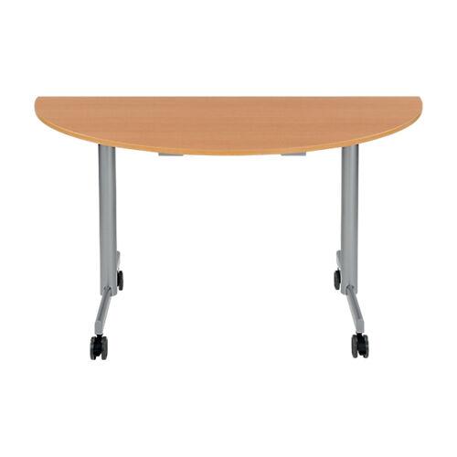 Sans marque Table de réunion abattante 1400 x 700 x 740 mm Imitation Hêtre