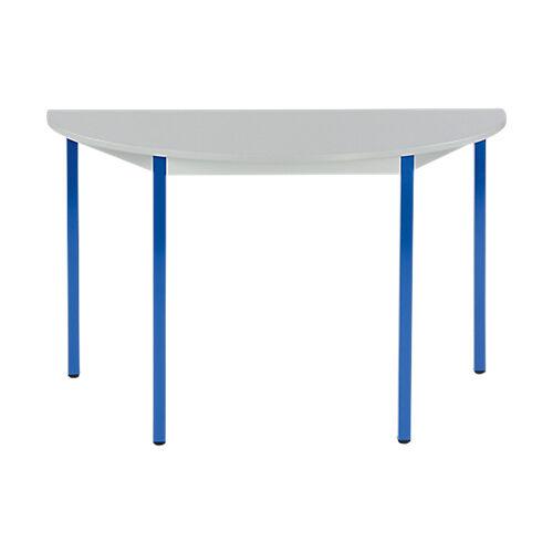 Sans marque Table de réunion modulaire 1/2 rondes Domino 1200 x 600 x 740 mm Gris