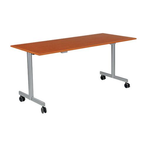 Sans marque Table de réunion abattante 1600 x 700 x 740 mm Imitation Merisier