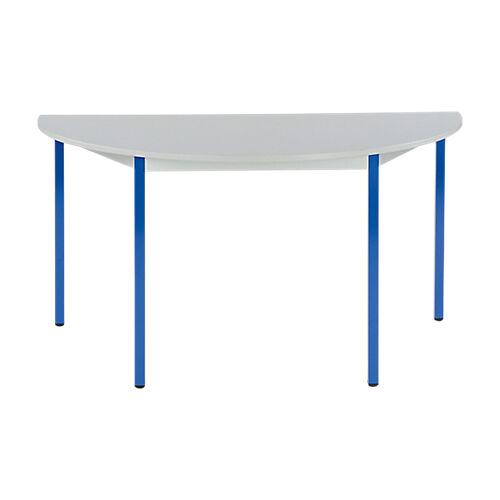 Sans marque Table de réunion modulaire 1/2 rondes Domino 1400 x 700 x 740 mm Gris