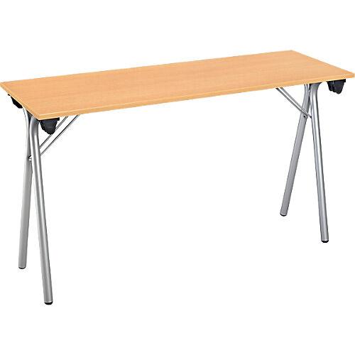 Sans marque Table pliante de formation 1200 x 400 x 740 mm Imitation Hêtre