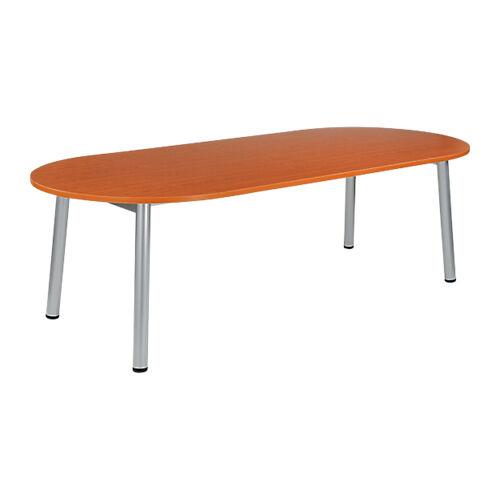 Sans marque Table de réunion oblongue Congrès 2400 x 1020 x 730 mm Imitation Merisier