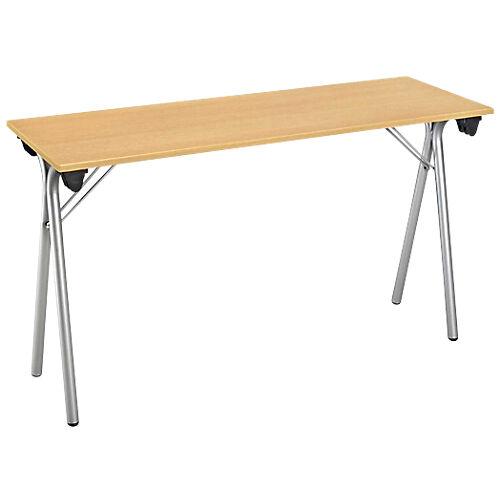 Sans marque Table pliante de formation 1600 x 400 x 740 mm Imitation Hêtre