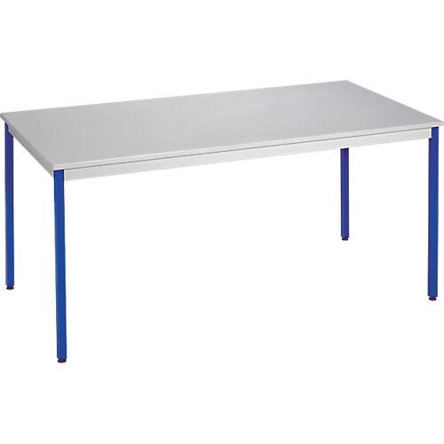 Sans marque Table de réunion modulaire rectangulaire Domino 1200 x 600 x 740 mm Gris