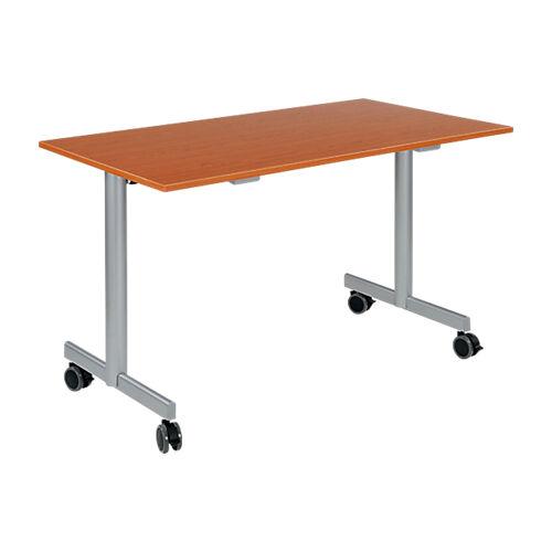 Sans marque Table de réunion abattante 1200 x 700 x 740 mm Imitation Merisier