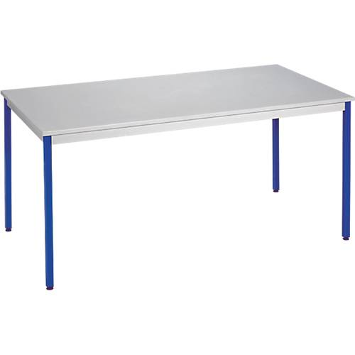 Sans marque Table de réunion modulaire rectangulaire Domino 1400 x 700 x 740 mm Gris