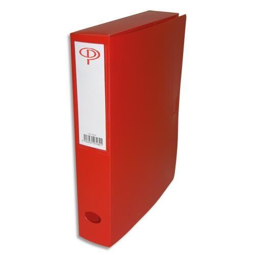 1er prix Boîte de classement - dos de 6 cm - en polypropylène 7/10e - fermeture clip - rouge