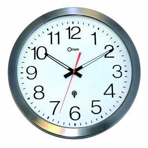 Orium Horloge murale étanche radio-contrôlée - Ø 35,5 cm - inox - Publicité