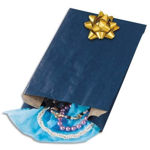 Welcome Office Sachet Kraft - 24 x 39 cm - soufflet de 7,5 cm - bleu - colis de 250