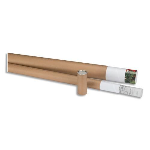 Welcome Office Tube d'expédition en carton gris 72g - avec embouts emboîtables en plastique - D60 x L640 mm
