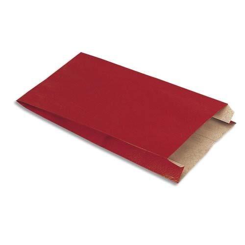 Welcome Office Sachet Kraft - 16 x 25 cm - soufflet de 8 cm - rouge - colis de 250