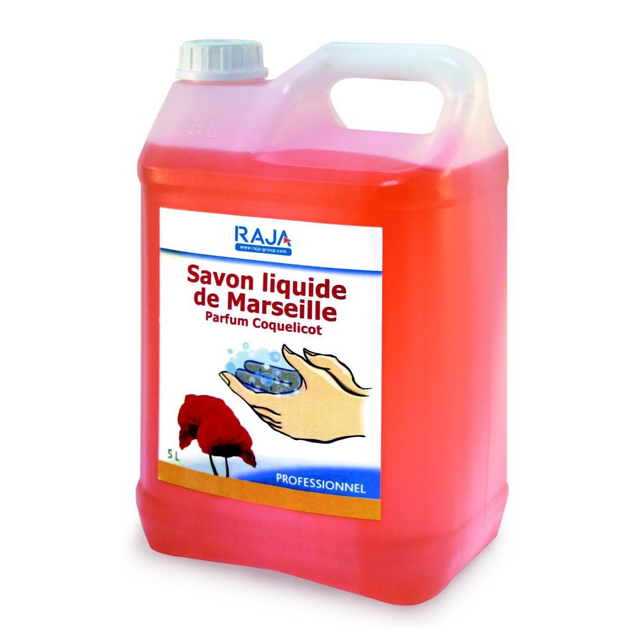 Raja Savon liquide de Marseille Raja - parfum coquelicot - bidon 5 litres