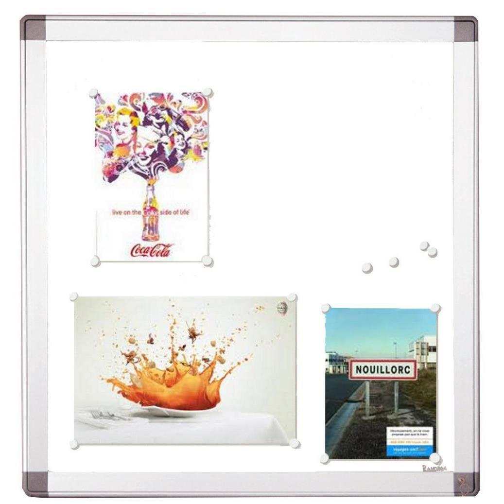 Planorga Vitrine d'intérieur NF haute sécurité 9 feuilles A4 - fond métal magnétique