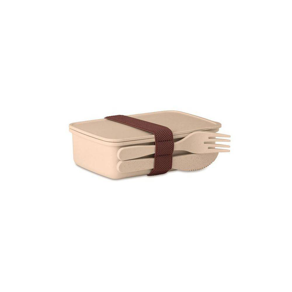 Welcome Office Boîte à repas Lunch box avec couverts - coloris beige