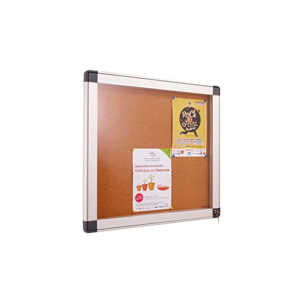 Welcome Office Vitrine intérieur cadre aluminium 8 feuilles A4 - fond métal magnétique