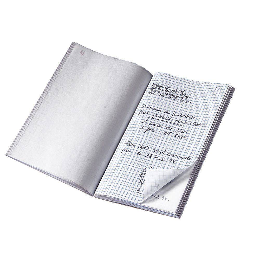 Le Dauphin Manifold autocopiant quadrillé - 14,8 x 10,5 cm - Tripli - bloc 50 feuilles - Lot de 10