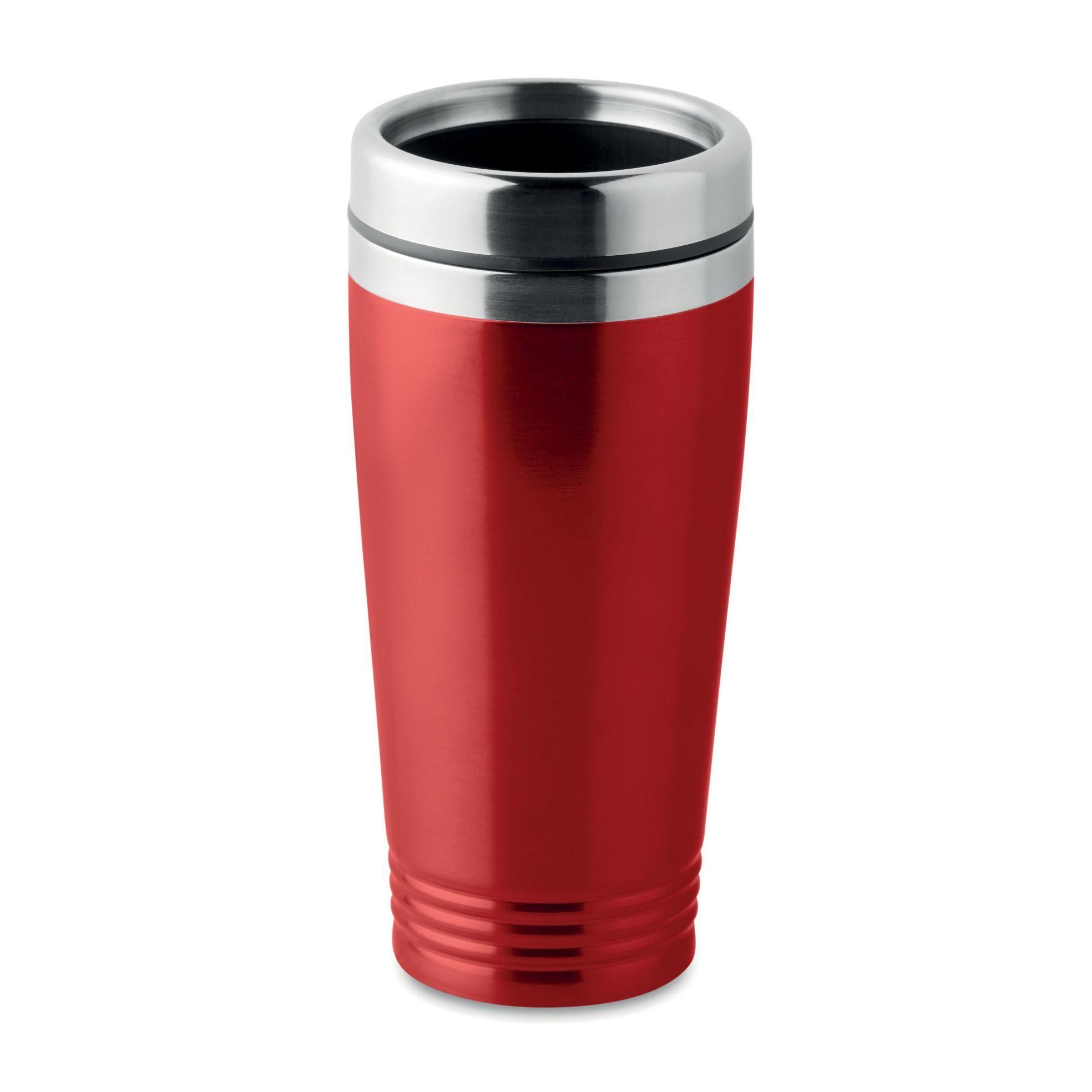 Welcome Office Mug de voyage isotherme en acier 40 cl - rouge