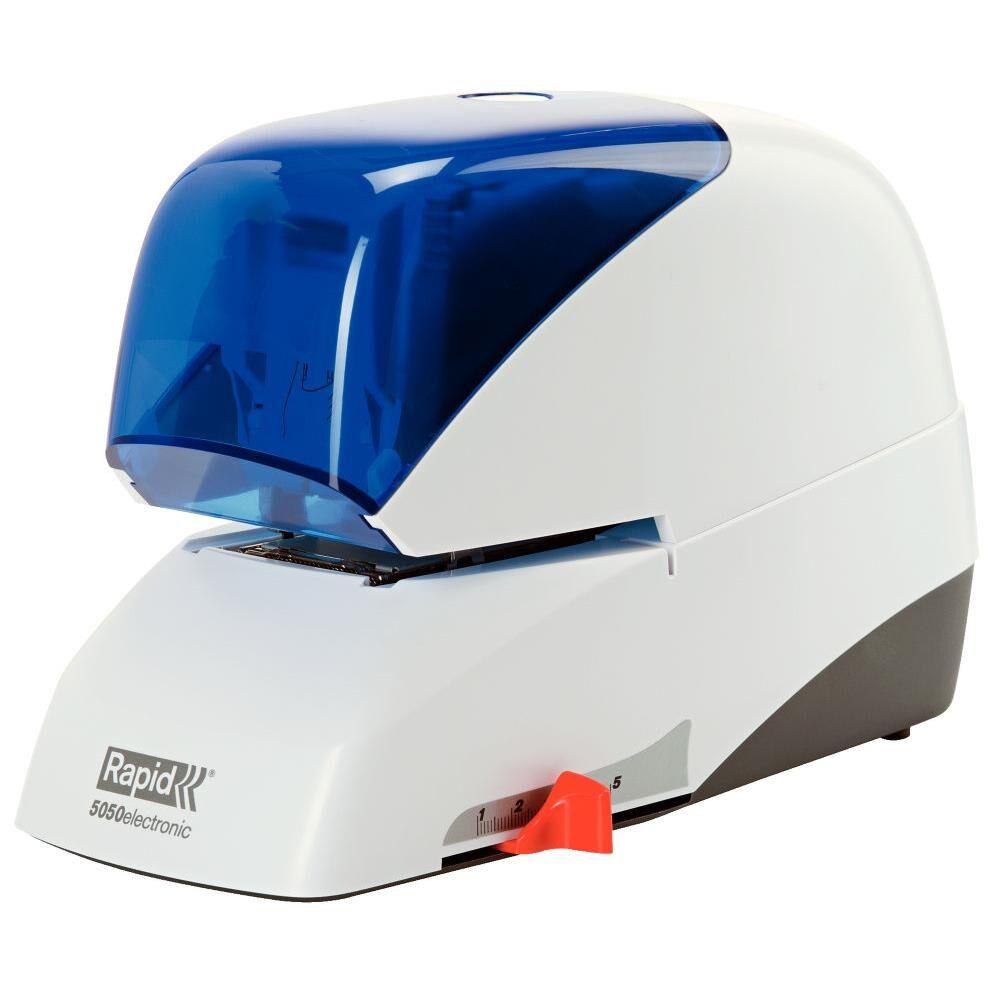 Rapid Agrafeuse électrique Rapid Supreme 5050e - ABS - blanc/bleu