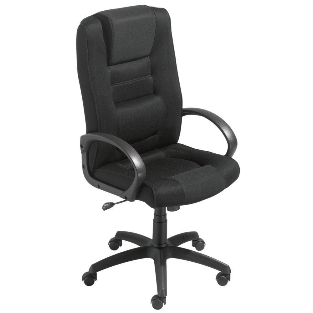 Welcome Office Fauteuil direction Capital Confort - tissu rembourré - hauteur dossier 74 cm - noir