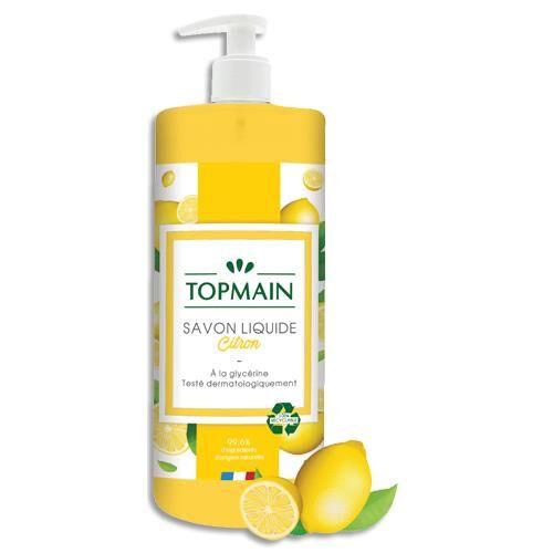 Topmain Savon liquide Topmain - spécial cuisine aux huiles essentielles - parfum citron - 500 ml