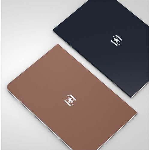 Oxford Carnet Oxford Pocket Notes agrafé - couverture carte - 9 x 14 cm - 48 pages - ligné 6 mm - chocolat et noir - lot de 2