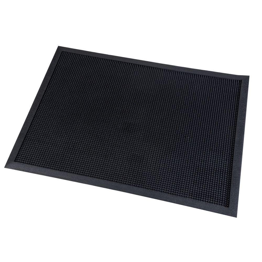 Paperflow Tapis d'accueil extérieur Paperflow en caoutchouc - 60 x 80 cm - trafic important - noir