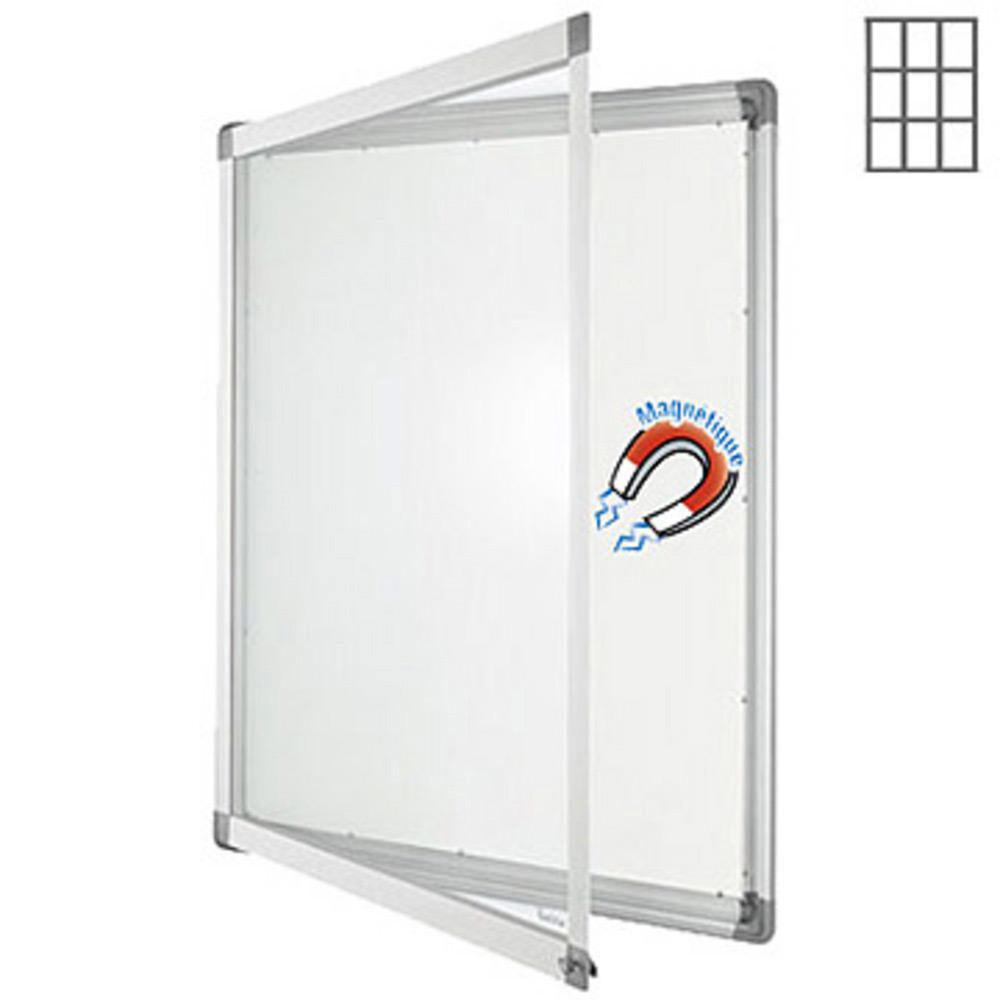 Welcome Office Vitrine intérieur cadre aluminium 9 feuilles A4 - fond métal
