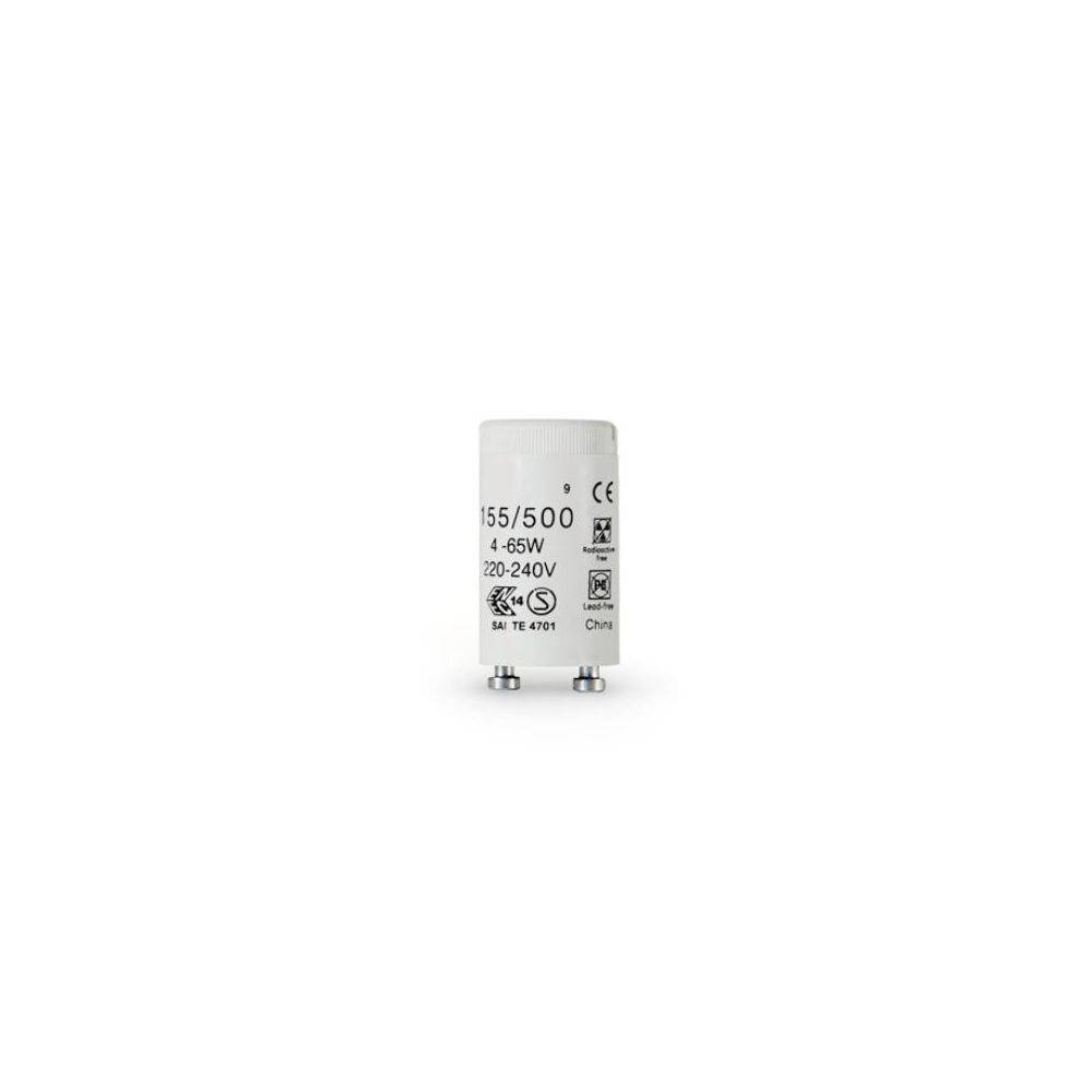 Aluminor Starter universel pour tube fluo T8 - culot G13 - 4 à 65 Watts - carton de 25