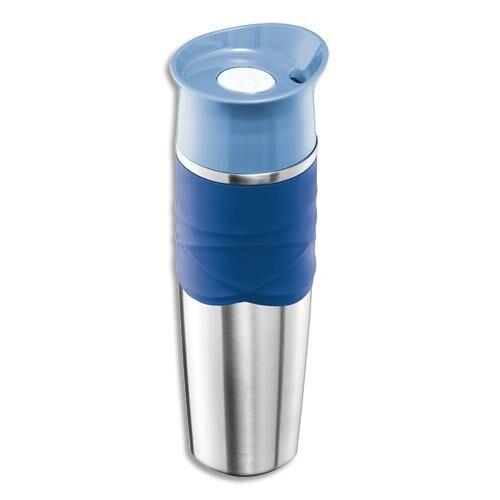Maped Mug bouteille isotherme Maped Picnik Nomade adulte - 320 ml - acier - PP + silicone bleu orage - étanche