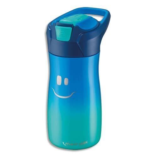 Maped Gourde Maped - 430 ml - concept enfants - en PP - bouton automatique - système de pipette - étanche - bleu