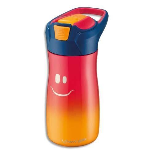 Maped Gourde Maped - 430 ml - concept enfants - en PP - bouton automatique - système de pipette - étanche - rose