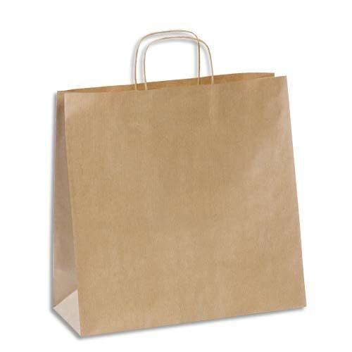 Welcome Office Sacs kraft brun haute résistance- 35 x 34 cm - soufflet de 14 cm - brun - colis de 100 sacs