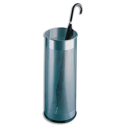Durable Porte-parapluie en tôle perforée - coloris gris métal