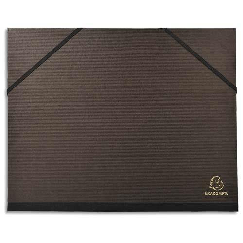 Exacompta Carton à dessin 26 x 33 cm noir avec élastiques Exacompta