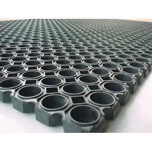 Floortex Tapis d'accueil exterieur caillebotis Floortex en caoutchoux - 100 x 150 cm - noir
