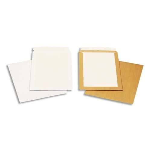 Gpv Pochette dos carton en kraft brun GPV - 260 x 330 mm - dos carton 24 - 120g - auto-adhesives - boite de 100