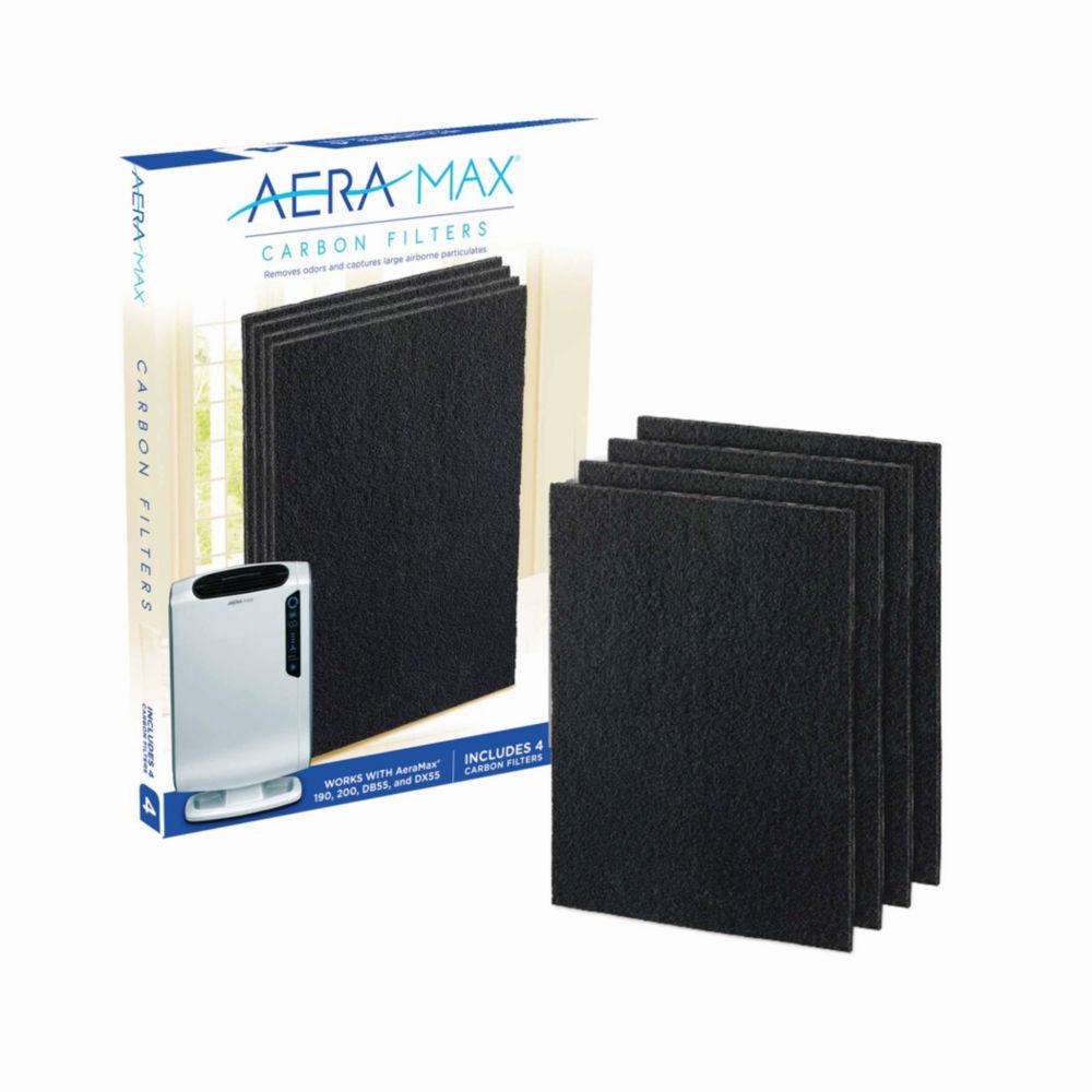 Fellowes Filtre charbon Fellowes pour purificateur d'air AeraMax DX55 - lot de 4
