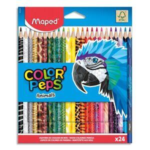 Maped Crayons de couleur décorés Animals Colorpep's Maped - coloris assortis - pochette de 24 - Publicité